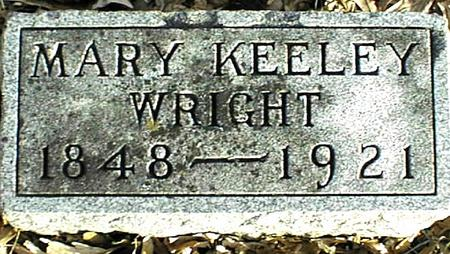 KEELEY WRIGHT, MARY - Jackson County, Iowa | MARY KEELEY WRIGHT