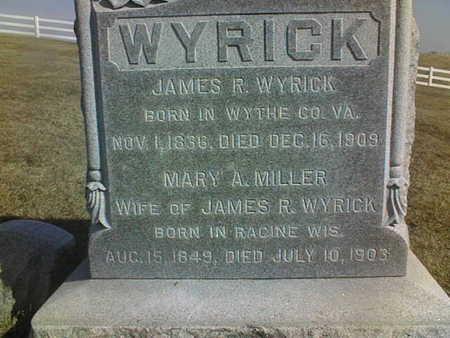 MILLER WYRICK, MARY A. - Jackson County, Iowa | MARY A. MILLER WYRICK