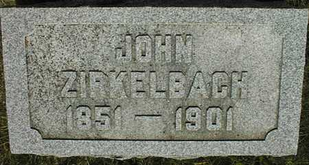 ZIRKELBACH, JOHN - Jackson County, Iowa   JOHN ZIRKELBACH