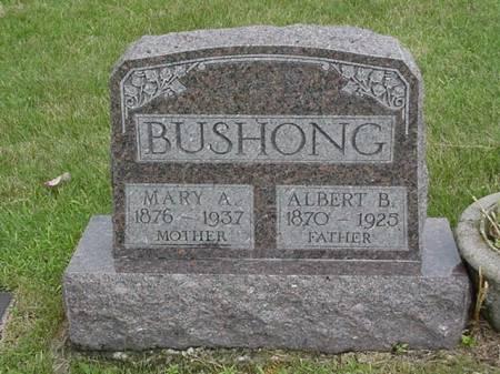 BUSHONG, ALBERT AND MARY - Jasper County, Iowa | ALBERT AND MARY BUSHONG