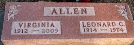 ALLEN, LEONARD CHARLES - Jasper County, Iowa   LEONARD CHARLES ALLEN