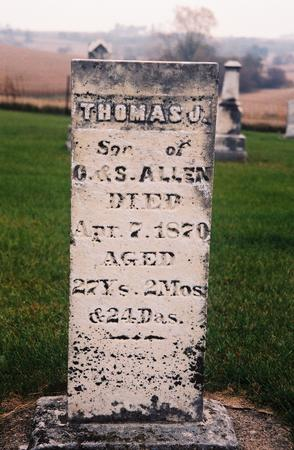 ALLEN, THOMAS - Jasper County, Iowa | THOMAS ALLEN
