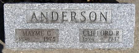 ANDERSON, CLIFFORD R. - Jasper County, Iowa | CLIFFORD R. ANDERSON