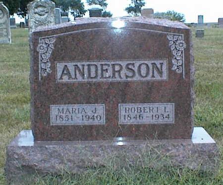 ANDERSON, MARIA J. - Jasper County, Iowa | MARIA J. ANDERSON