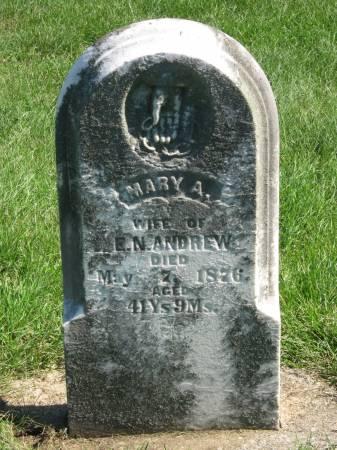 ANDREW, MARY A. - Jasper County, Iowa   MARY A. ANDREW