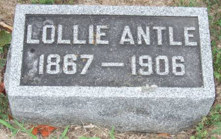 CATING ANTLE, LAURA (LOLLIE) SMITH - Jasper County, Iowa   LAURA (LOLLIE) SMITH CATING ANTLE