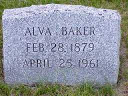 BAKER, ALVA - Jasper County, Iowa   ALVA BAKER