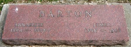 BARTON, ANNABELLE - Jasper County, Iowa   ANNABELLE BARTON