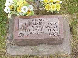 BATY, ELDA MARIE - Jasper County, Iowa | ELDA MARIE BATY