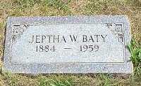 BATY, JEPTHA WILLIAM - Jasper County, Iowa | JEPTHA WILLIAM BATY