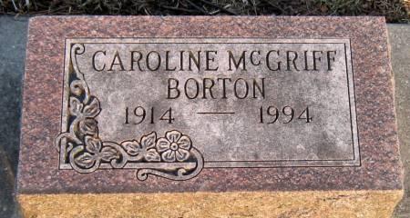 PLATT BORTON, CAROLINE - Jasper County, Iowa | CAROLINE PLATT BORTON
