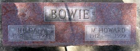 BOWIE, HILDA AGNES - Jasper County, Iowa | HILDA AGNES BOWIE
