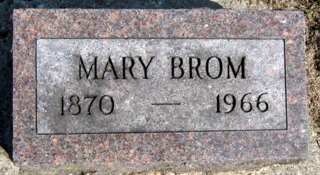 BROM, MARY - Jasper County, Iowa   MARY BROM