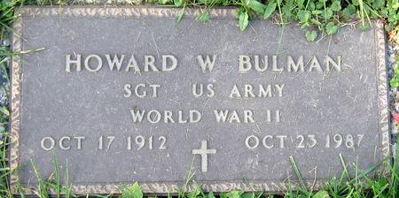 BULMAN, HOWARD W. - Jasper County, Iowa | HOWARD W. BULMAN