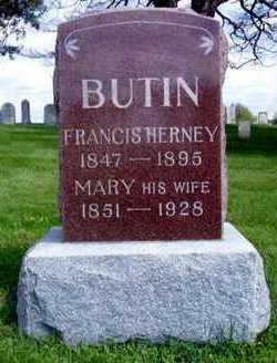 BUTIN, FRANCIS HERNEY - Jasper County, Iowa | FRANCIS HERNEY BUTIN