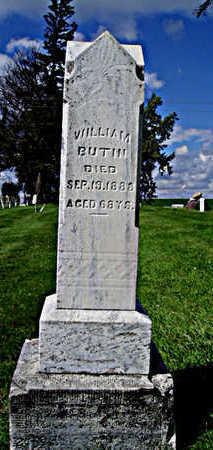 BUTIN, WILLIAM - Jasper County, Iowa   WILLIAM BUTIN