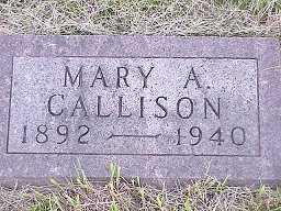 ALLFREE CALLISON, MARY - Jasper County, Iowa | MARY ALLFREE CALLISON
