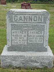MILLER CANNON, SARAH MARIA - Jasper County, Iowa | SARAH MARIA MILLER CANNON