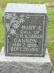 CANNON, MARY E. - Jasper County, Iowa | MARY E. CANNON