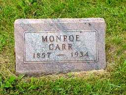 CARR, JAMES MONROE - Jasper County, Iowa | JAMES MONROE CARR