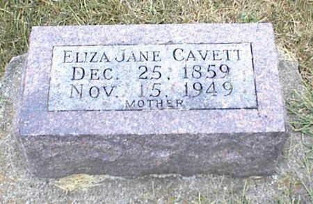 CAVETT, ELIZA JANE - Jasper County, Iowa | ELIZA JANE CAVETT