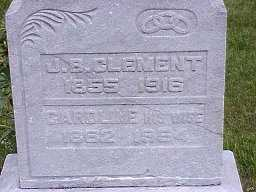 CLEMENT, CAROLINE - Jasper County, Iowa | CAROLINE CLEMENT