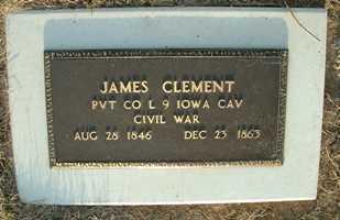 CLEMENT, JAMES - Jasper County, Iowa | JAMES CLEMENT