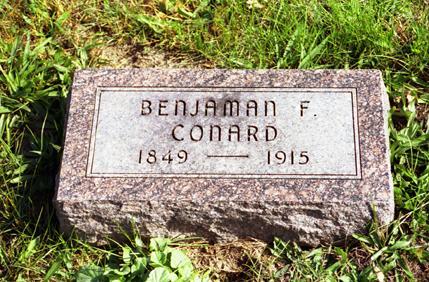 CONARD, BENJAMAN  F. - Jasper County, Iowa | BENJAMAN  F. CONARD