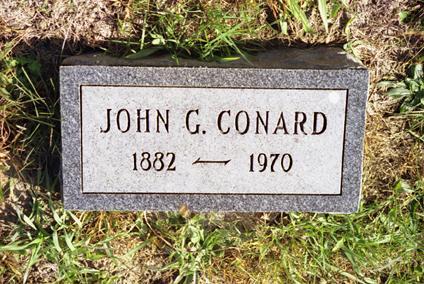 CONARD, JOHN GEORGE - Jasper County, Iowa | JOHN GEORGE CONARD