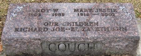 COUCH, MARY JESSIE - Jasper County, Iowa   MARY JESSIE COUCH