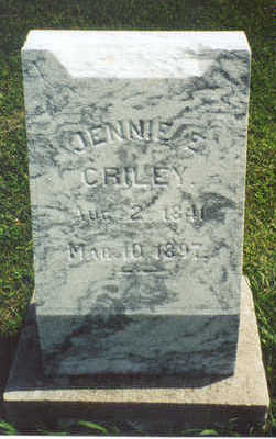 CRILEY, JENNIE - Jasper County, Iowa | JENNIE CRILEY