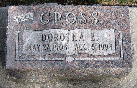 CROSS, DOROTHA E. - Jasper County, Iowa | DOROTHA E. CROSS