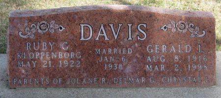 KLOPPENBORG DAVIS, RUBY G. - Jasper County, Iowa   RUBY G. KLOPPENBORG DAVIS