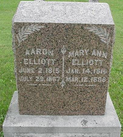 ELLIOTT, AARON AND MARY ANN - Jasper County, Iowa | AARON AND MARY ANN ELLIOTT