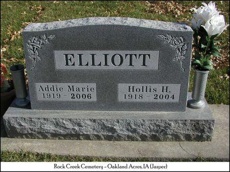 MCDOWELL ELLIOTT, ADDIE MARIE - Jasper County, Iowa | ADDIE MARIE MCDOWELL ELLIOTT