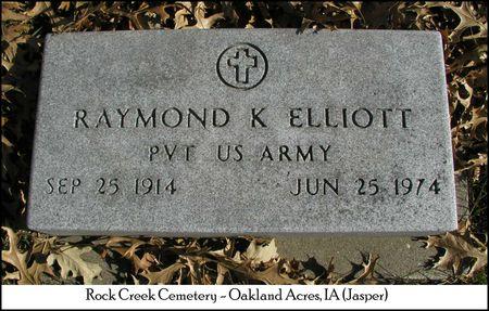 ELLIOTT, RAYMOND KEITH - Jasper County, Iowa | RAYMOND KEITH ELLIOTT