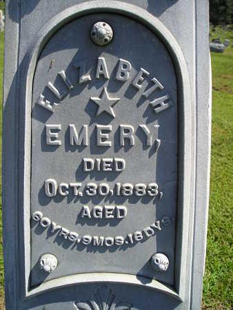 EMERY, ELIZABETH - Jasper County, Iowa   ELIZABETH EMERY