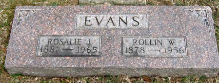 EVANS, ROSALIE JOSEPHINE - Jasper County, Iowa | ROSALIE JOSEPHINE EVANS