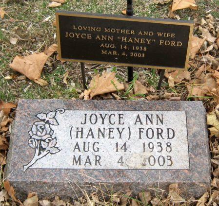 HANEY FORD, JOYCE ANN - Jasper County, Iowa | JOYCE ANN HANEY FORD