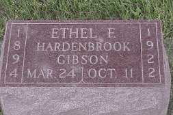 HARDENBROOK GIBSON, ETHEL - Jasper County, Iowa   ETHEL HARDENBROOK GIBSON
