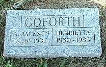CALKIN GOFORTH, HENRIETTA - Jasper County, Iowa | HENRIETTA CALKIN GOFORTH