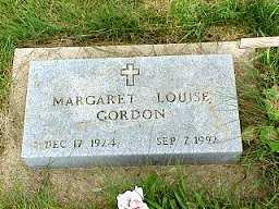 GORDON, MARGARET LOUISE - Jasper County, Iowa | MARGARET LOUISE GORDON