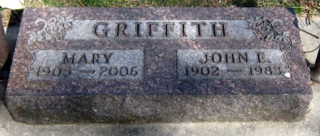 MELLICK GRIFFITH, MARY - Jasper County, Iowa | MARY MELLICK GRIFFITH
