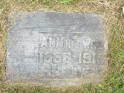 WALKER HENNEY, ANNIE - Jasper County, Iowa | ANNIE WALKER HENNEY