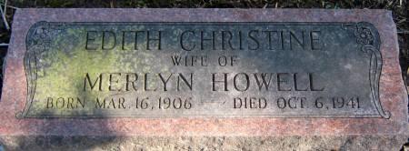 HOWELL, EDITH CHRISTINE - Jasper County, Iowa | EDITH CHRISTINE HOWELL