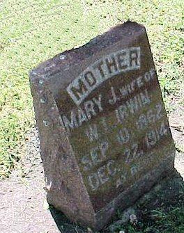 IRWIN, MARY J. - Jasper County, Iowa   MARY J. IRWIN