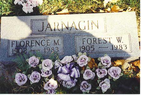 CURRY JARNAGIN, FLORENCE - Jasper County, Iowa   FLORENCE CURRY JARNAGIN