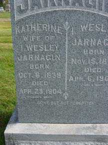 JARNAGIN, I. WESLEY - Jasper County, Iowa   I. WESLEY JARNAGIN
