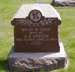 DODD KENYON, MAUD - Jasper County, Iowa | MAUD DODD KENYON