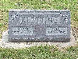 WINEGAR KLETTING, GRACE - Jasper County, Iowa | GRACE WINEGAR KLETTING